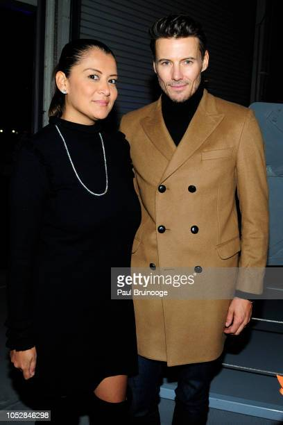 Keytt Lundqvist and Alex Lundqvist attend Lionsgate With The Cinema Society Host The After Party For The World Premiere Of Hunter Killer at Intrepid...