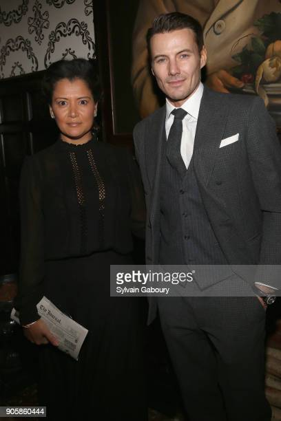Keytt Lundqvist and Alex Lundqvist attend New York Premiere after party for TNT's 'The Alienist' on January 16 2018 in New York City