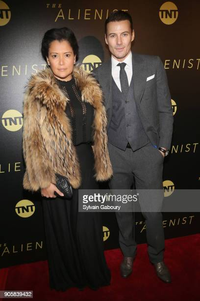 Keytt Lundqvist and Alex Lundqvist attend New York Premiere of TNT's 'The Alienist' on January 16 2018 in New York City