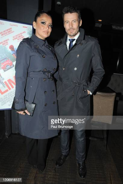 Keytt Lundqvist and Alex Lundqvist attend Sony Pictures Classics And The Cinema Society Host A Special Screening Of The Climb at iPic Theater on...