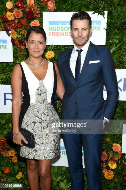 Keytt Lundqvist and Alex Lundqvist attend the 20th Anniversary Gala to Celebrate Hudson River Park at Pier 60 on October 11 2018 in New York City