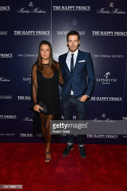 Keytt Lundqvist and Alex Lundqvist attend 'The Happy Prince' New York screening at iPic Cinema on October 8 2018 in New York City