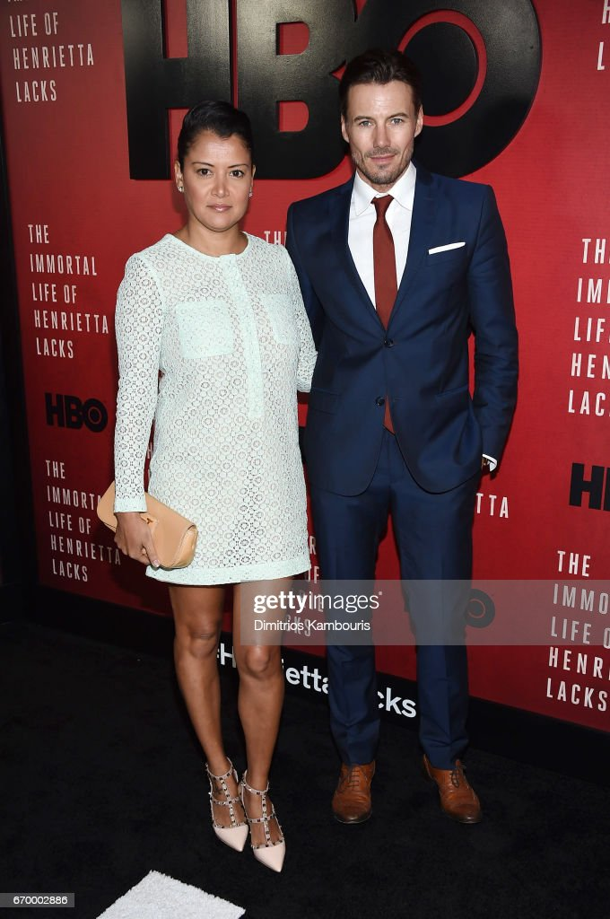 Keytt Lundqvist and Alex Lundqvist attend 'The Immortal Life of Henrietta Lacks' premiere at SVA Theater on April 18, 2017 in New York City.