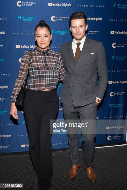 Keytt Lundqvist and Alex Lundqvist attend the New York screening of 'The Price of Free' hosted by YouTube and Participant Media at Museum of Modern...