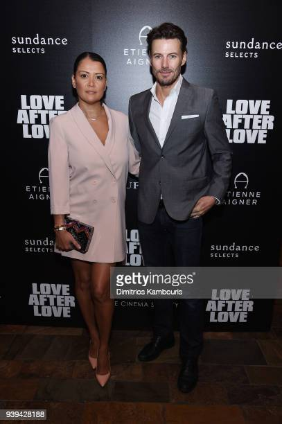Keytt Lundqvist and Alex Lundqvist attend the premiere of 'Love After Love' at The Roxy Cinema on March 28 2018 in New York City
