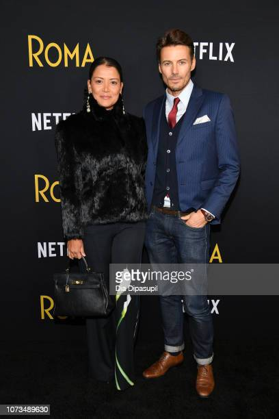Keytt Lundqvist and Alex Lundqvist attend the 'Roma' New York screening at DGA Theater on November 27 2018 in New York City