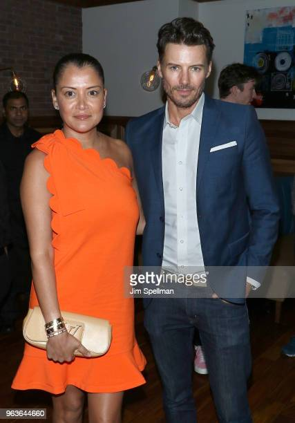 Keytt Lundqvist and Alex Lundqvist attend the screening after party for Hotel Artemis hosted by Global Road Entertainment with The Cinema Society at...