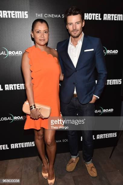Keytt Lundqvist and Alex Lundqvist attend the screening of 'Hotel Artemis' at Quad Cinema on May 29 2018 in New York City