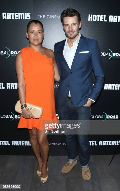 Keytt Lundqvist and Alex Lundqvist attend the screening of 'Hotel Artemis' hosted by Global Road Entertainment with The Cinema Society at the Quad...