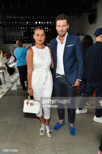 Keytt Lundqvist and Alex Lundqvist attend the Son Jung Wan Front Row during New York Fashion Week The Shows at Gallery I at Spring Studios on...