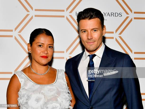 Keytt Lundqvist and Alex Lundqvist The Shops Restaurants at Hudson Yards Vip Grand Opening Event on March 14 2019 in New York City