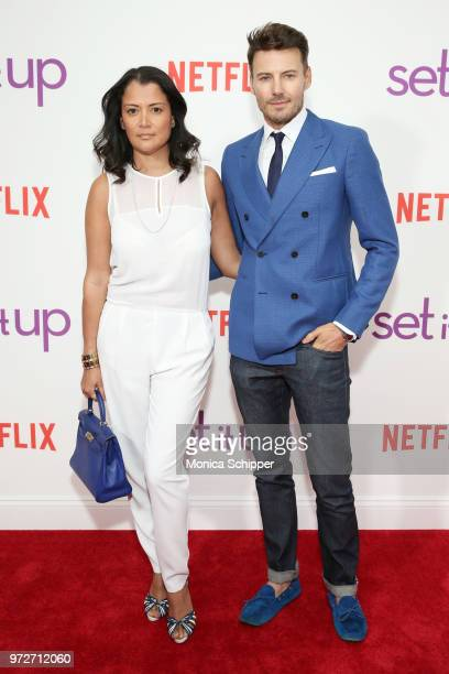 Keytt Lundqvist and model Alex Lundqvist attend a special screening of the Netflix film 'Set It Up' at AMC Lincoln Square Theater on June 12 2018 in...
