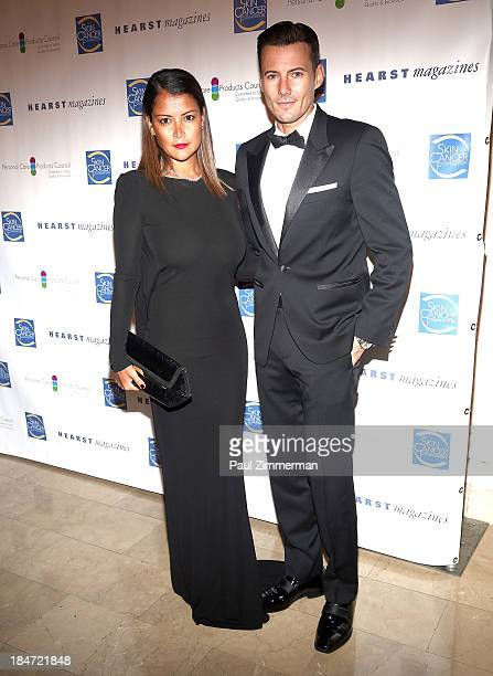 Keytt Lundqvist and model Alex Lundqvist attend the 2013 Skin Cancer Foundation gala at The Plaza Hotel on October 15 2013 in New York City