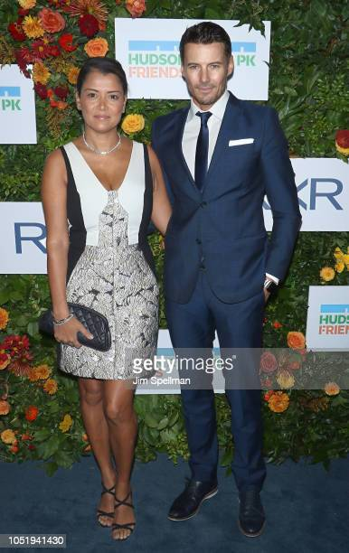 Keytt Lundqvist and model Alex Lundqvist attend the 20th Anniversary Hudson River Park Gala at Hudson River Park's Pier 62 on October 11 2018 in New...