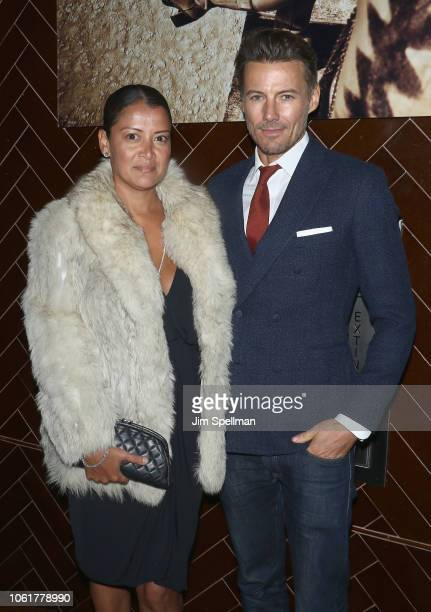 Keytt Lundqvist and model Alex Lundqvist attend the after party for 'Green Book' hosted by Universal Pictures and The Cinema Society at Jimmy at The...