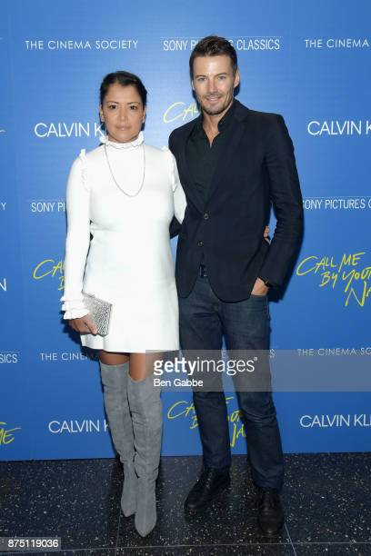 Keytt Lundqvist and model Alex Lundqvist attend The Cinema Society screening of Sony Pictures Classics' 'Call Me By Your Name' at Museum of Modern...