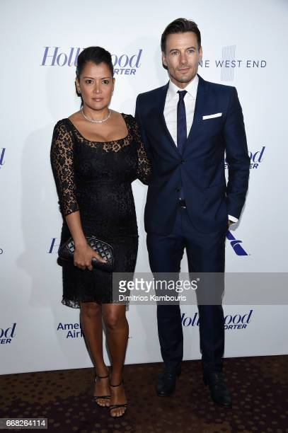 Keytt Lundqvist and model Alex Lundqvist attend The Hollywood Reporter 35 Most Powerful People In Media 2017 at The Pool on April 13 2017 in New York...