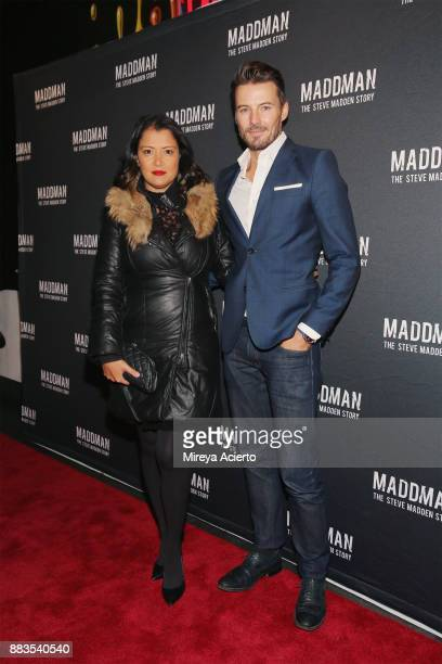 Keytt Lundqvist and model Alex Lundqvist attend the 'Maddman The Steve Madden Story' New York premiere at iPic Theater on November 30 2017 in New...