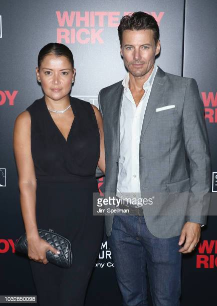 Keytt Lundqvist and model Alex Lundqvist attend the New York special screening of 'White Boy Rick' hosted by Columbia Pictures and Studio 8 at the...