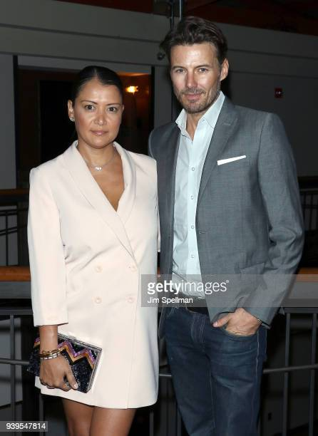 Keytt Lundqvist and model Alex Lundqvist attend the screening after party for Sundance Selects' 'Love After Love' hosted by The Cinema Society with...