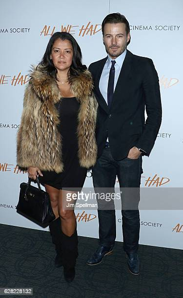 Keytt Lundqvist and model Alex Lundqvist attend the screening of 'All We Had' hosted by The Cinema Society and Ruffino at Landmark Sunshine Cinema on...