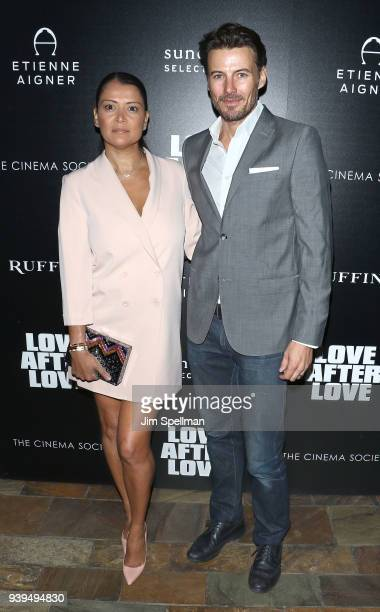 Keytt Lundqvist and model Alex Lundqvist attend the screening of Sundance Selects' 'Love After Love' hosted by The Cinema Society with Etienne Aigner...