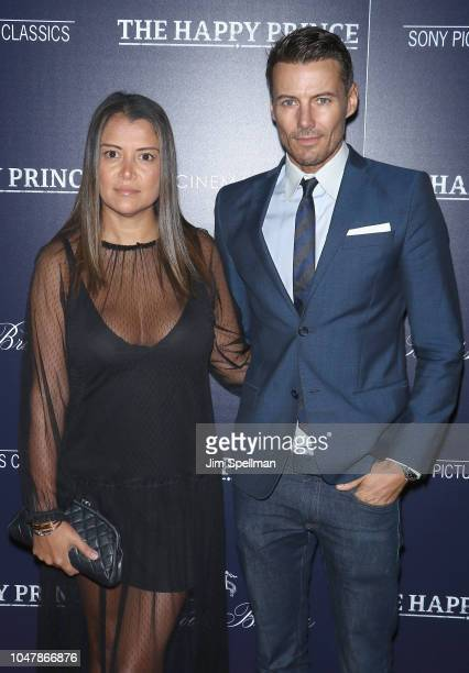 Keytt Lundqvist and model Alex Lundqvist attend the special screening of Sony Pictures Classics' 'The Happy Prince' hosted by The Cinema Society and...