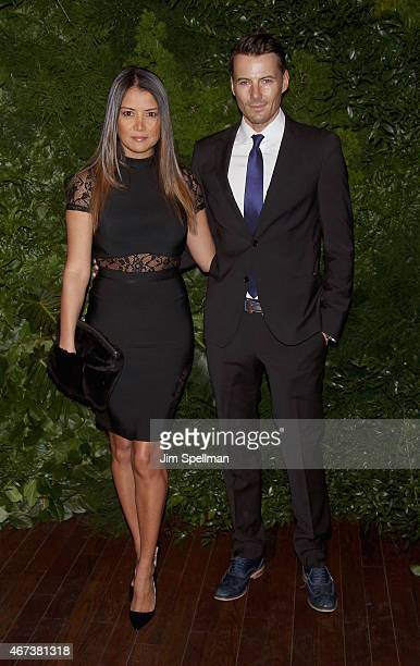 Keytt Lundqvist and model Alex Lundqvist attend the Women's Brain Health Initiative launch at Urban Zen on March 23 2015 in New York City
