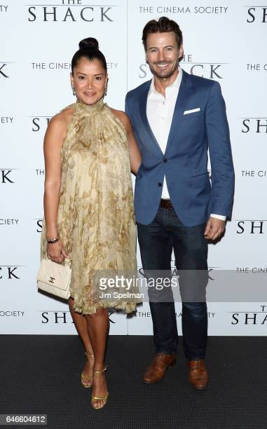 Keytt Lundqvist and model Alex Lundqvist attend the world premiere of 'The Shack' hosted by Lionsgate at Museum of Modern Art on February 28 2017 in...