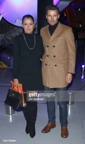 Keytt Lundqvist and model Alex Lundqvist attend the world premiere after party for 'Hunter Killer' hosted by Lionsgate at Intrepid SeaAirSpace Museum...