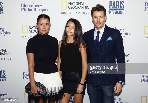 Keytt Lundqvist Karolina Lundqvist and Alex Lundqvist attend the New York premiere of Paris to Pittsburgh hosted by Bloomberg Philanthropies and...