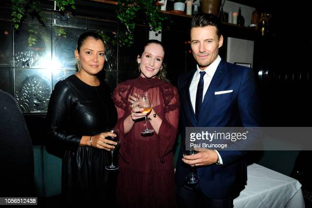Keytt Lundqvist Samantha Rudd and Alex Lundqvist attend Rudd Oakville Estate Dinner at Bistrot Leo on October 17 2018 in New York City