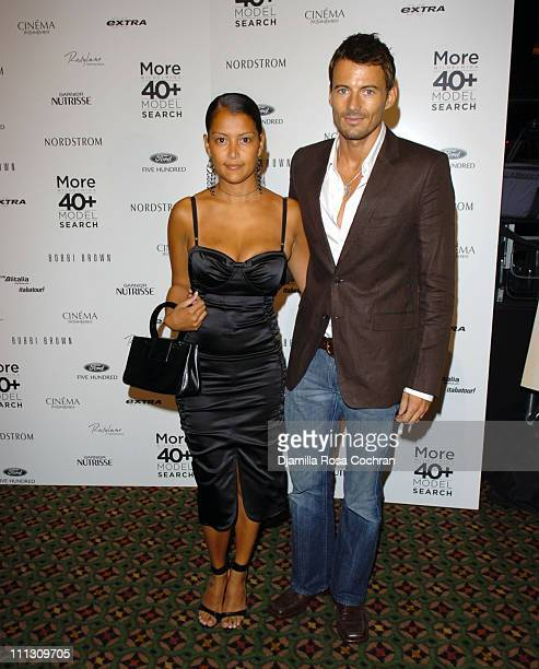 Keytt Mitsunobi and Alex Lundqvist during The Winners of the 6th Annual More Magazine Wilhelmina 40 Model Search at Cipriani in New York City New...