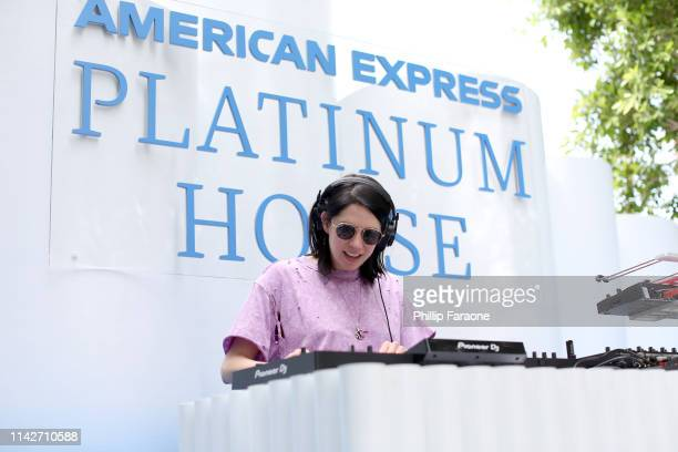 kflay spins onstage at the American Express Platinum House at the Avalon Hotel Palm Springs on April 14 2019 in Palm Springs California