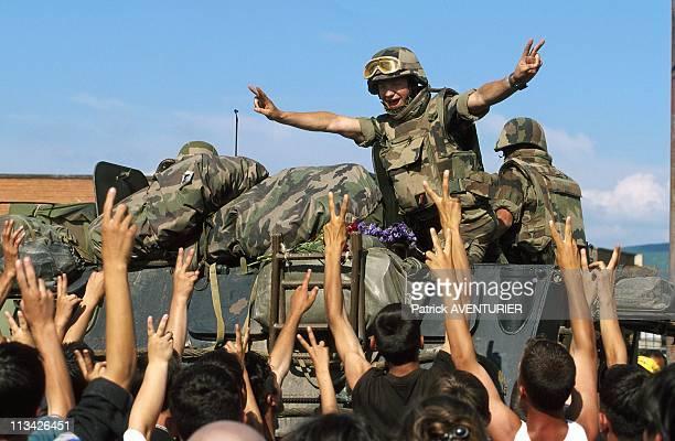 Kfor Troops In Kosovo On June 1st 1999 In GnjilaneYugoslavia