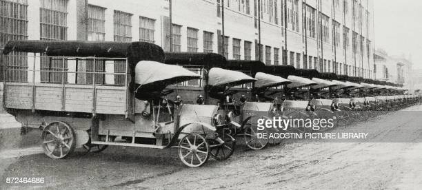 3500 kg military wagons supplied by FIAT to the Russian Government Italy from L'Illustrazione Italiana Year XLII No 9 February 28 1915