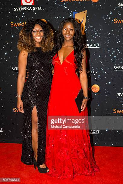 Khaddi Sagnia attends the Swedish Sports Gala at the Ericsson Globe on January 25 2016 in Stockholm Sweden