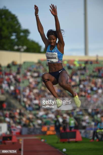 Khaddi Sagnia compete in the during the Oslo IAAF Diamond League 2017 at the Bislett Stadium on June 15 2017 in Oslo Norway