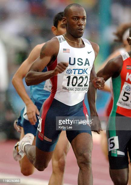 Khadevis Robinson of the United States placed third in first-round heat of the 800 meters in 1:46,74 in the IAAF World Championships in Athletics at...