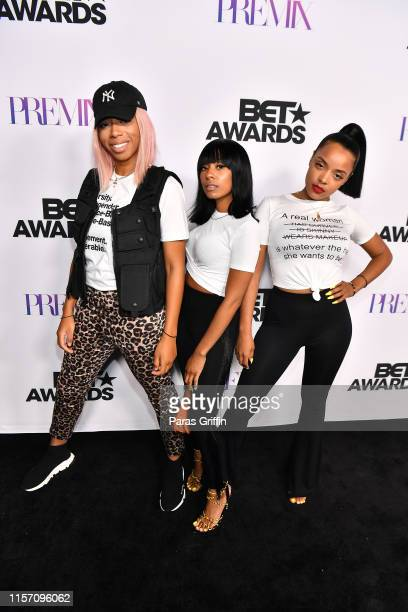 Khadi Don Courtney Elise and Breanna Nicole attend PREMIX Hosted By Connie Orlando at The Sunset Room on June 19 2019 in Los Angeles California