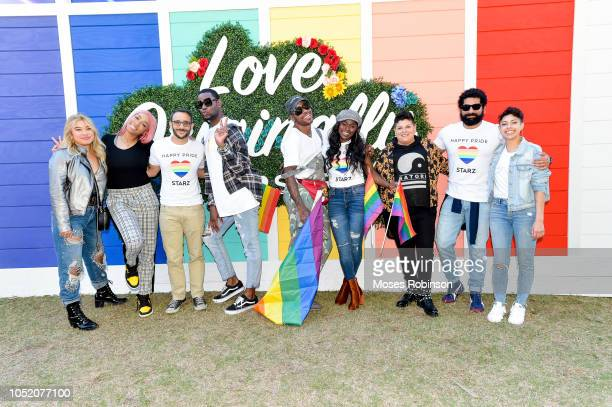 Khadi Don Omid Abtahi Kelz Washington Shod Santiago Yetide Badaki Ser Anzoategui Mousa Kraish and guest attend STARZ at Atlanta Pride 2018 at...