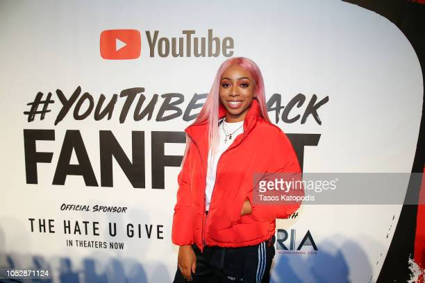 Khadi Don on the red carpet of the #YouTubeBlack FanFest 2018 at Howard University on October 23 2018 in Washington DC