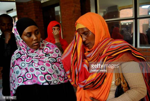 Khadija Denge, wife of police officer Corporal Nura Ali who was shot at the Westgate Mall while helping victims on September 25 2013 in Nairobi,...