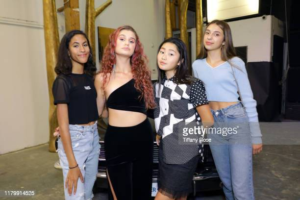 Khadija Emma Cloe Wilder Pearly Wong and Alessia Degraye attend Cloe Wilder's Save Me music video premiere party on October 08 2019 in Los Angeles...