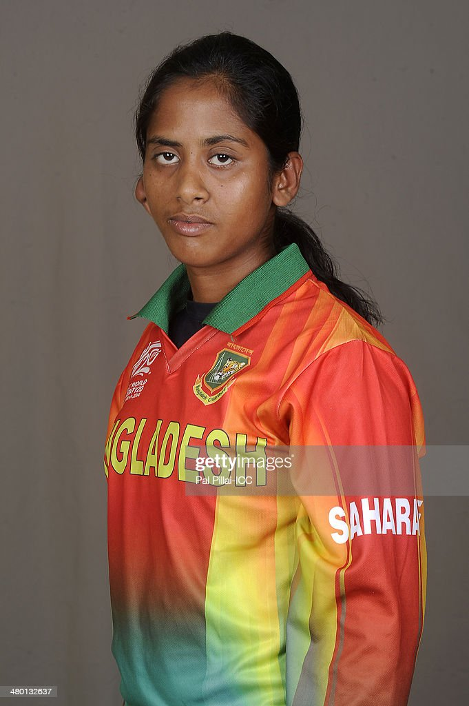 Khadija Tul Kubra of Bangladesh poses for a portrait during the women's headshot session before the start of the ICC Women's World T20 at the Sylhet...
