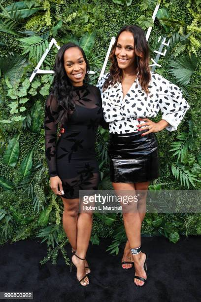 Khadijah Haqq and Ashley North attend Ashley North's Launch of 'AN STYLE' Candles at IceLink Boutique and Rooftop Lounge on July 11 2018 in West...