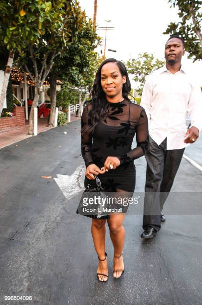 Khadijah Haqq arrives at Ashley North's Launch of 'AN STYLE' Candles at IceLink Boutique and Rooftop Lounge on July 11 2018 in West Hollywood...