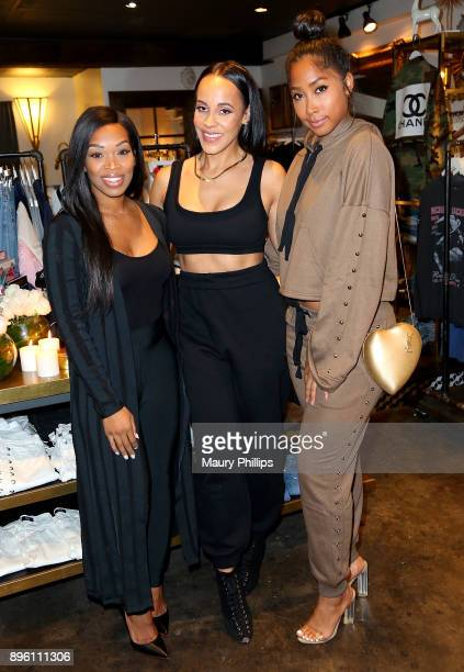 Khadijah Haqq Ashley North and April Jones attend an event hosted by TV personality and fashion stylist Ashley North for her new an Style Candles...
