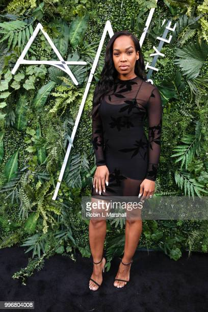 Khadijah Haqq attends Ashley North's Launch of 'AN STYLE' Candles at IceLink Boutique and Rooftop Lounge on July 11 2018 in West Hollywood California
