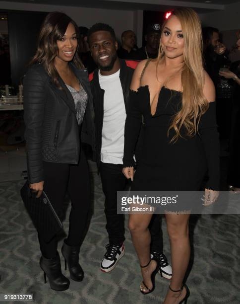 Khadijah Haqq Kevin Hart and Lauren London attend Nipsey Hussle's Private Debut Album Release Party at The London West Hollywood at Beverly Hills on...